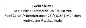 Impressum webzelle